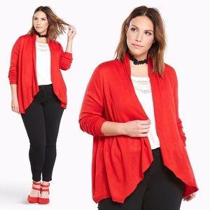 Torrid Red Drape Sweater